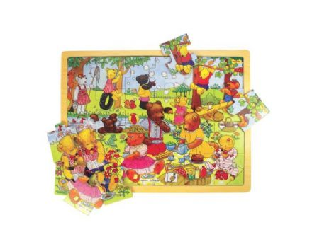 Bigjigs - Teddy's Picnic Puzzle Tray